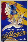 Vintage French cycling poster - Legere Rapid